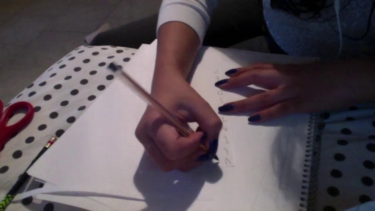 Tutorial ASMR: cómo hacer una envoltura de regalo de sopa de letras ~ papel, tijeras, soft spoken