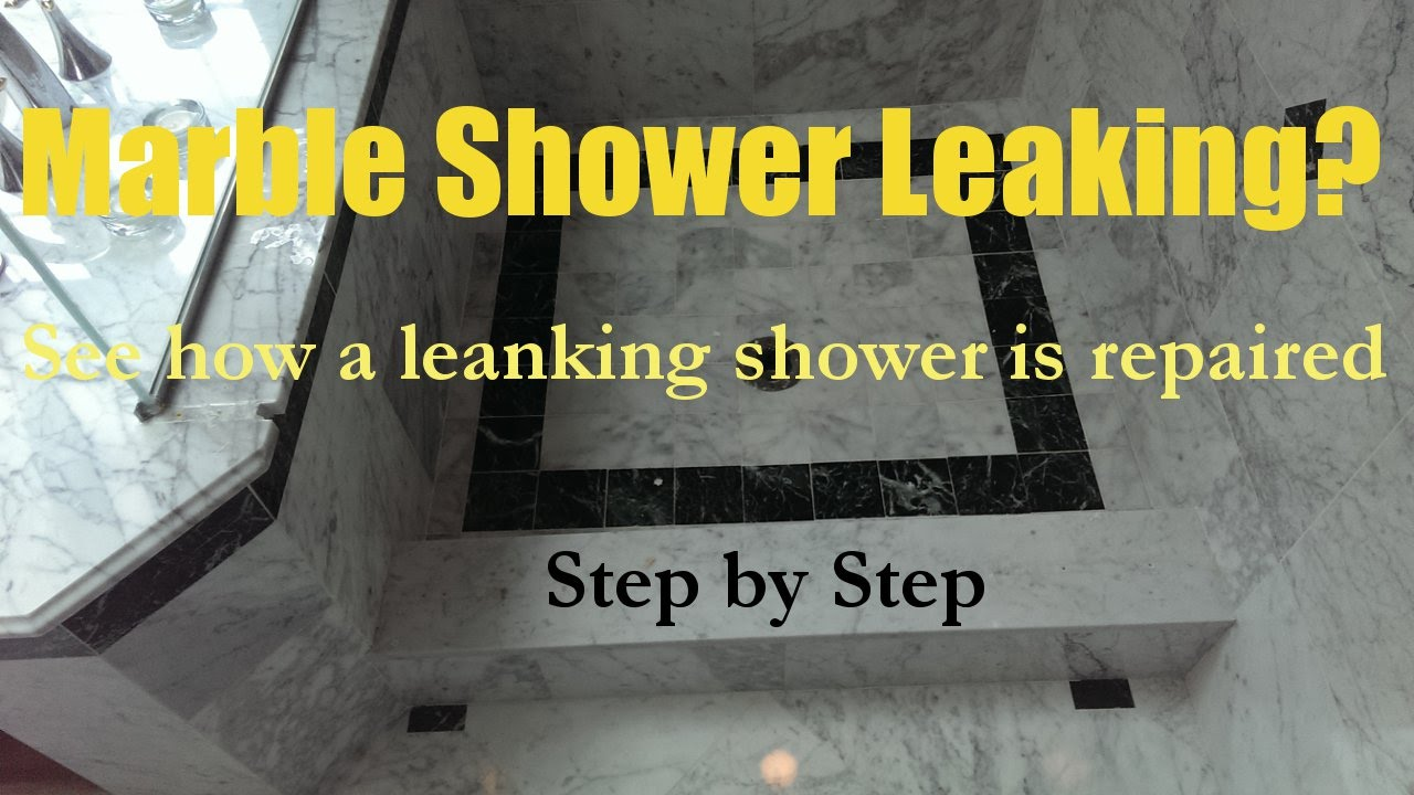Marble Shower Pan Leak Repair Ma Ri 508 880 6001 Specialized Floor Care Services Youtube