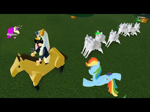 Chased By Wolves + Flying My Little Pony Rainbow Dash - Let's Play Online Roblox Games