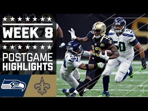 Seahawks vs. Saints | NFL Week 8 Game Highlights