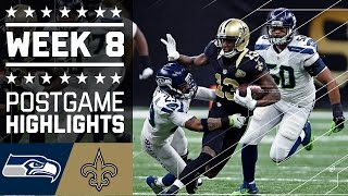 Seahawks vs. Saints | NFL Week 8 Game Highlights