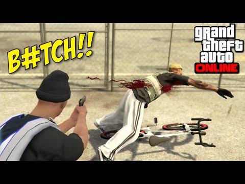 DRIVE-BIKE SHOOTING B#TCH!! [GTA ONLINE] [MADNESS!]