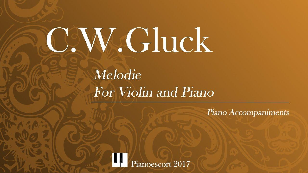 Download C.W.Gluck - Melodie - violin and Piano - Piano accompaniment