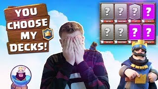YOU CHOOSE MY DECKS! Subscribers' Decks Challenge! LIVE Grand Challenge Gameplay - Clash Royale