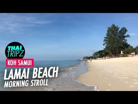 Lamai Beach - Morning - Koh Samui - Thailand - 4K
