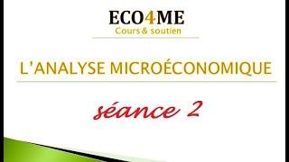 Microéconomie: la théorie du comportement du consommateur ( utilité totale & utilité marginale)