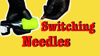 ✅SWITCHING NEEDLES DURING A TATTOO!!❓❗