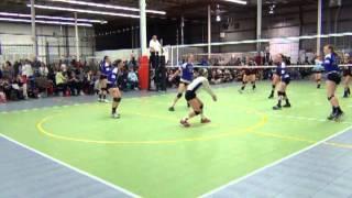 Erica Vendituoli #2 - Libero - Video footage from the NERVA Qualifier Tournament on 3-3-2013