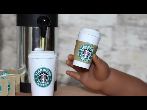 Doll Starbucks Coffee   DIY American Girl Doll Craft