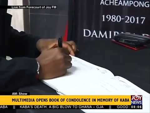 Multimedia opens book of condolence in memory of KABA - AM Show on JoyNews (20-11-