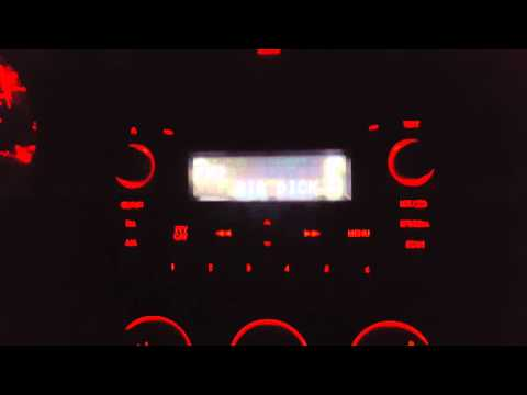 Country music radio station has questionable text display