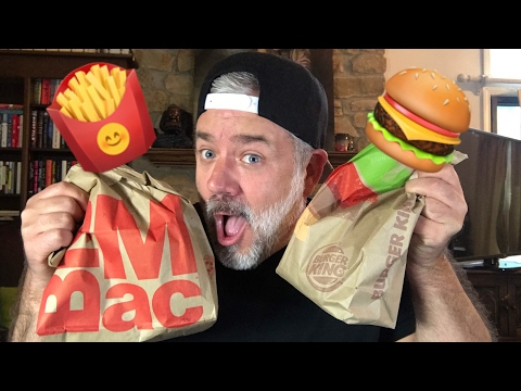 MCDONALD'S BIG MAC VS THE WHOPPER FROM BURGER KING | MUKBANG EATING SHOW