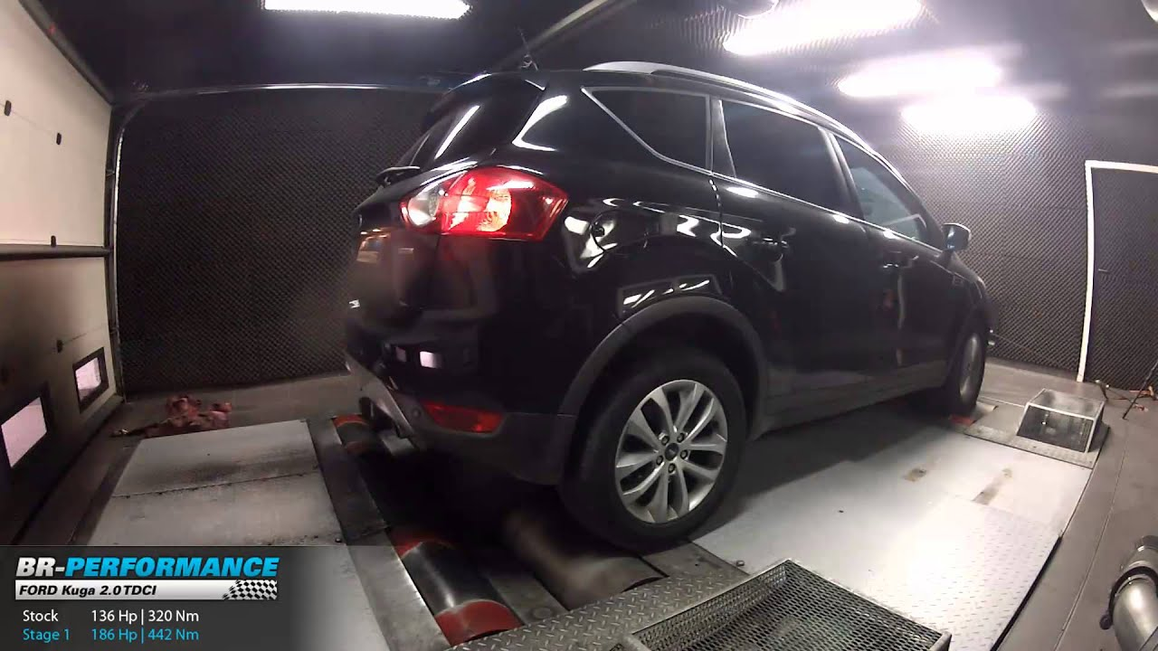 reprogrammation moteur ford kuga 2 0 tdci 136hp 186hp par br performance youtube