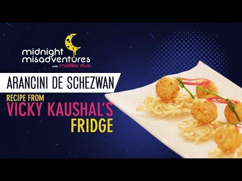 Vicky's Favorite 'Arancini de Schezwan' tasty, quick & easy snack-Recipe from Midnight Misadventures