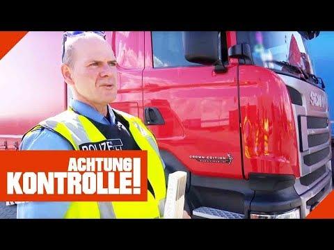 Autobahn-Crash mit LKW! Wer hat Schuld? Polizei ermittelt!   Achtung Kontrolle   Kabel Eins
