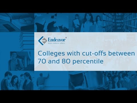 Colleges with cut-offs between 70-80 percentile | CAT