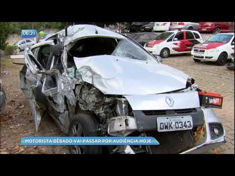 Motorista bêbado que provocou acidente vai passar por audiência
