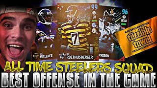 ALL-TIME PITTSBURGH STEELERS SQUAD BUILDER! BEST OFFENSE IN THE GAME! | MADDEN 17 ULTIMATE TEAM