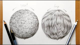 Drawing tutorial - How to draw realistic fur in graphite|Leontine van vliet
