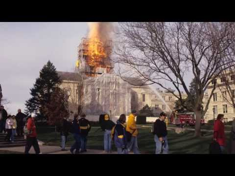 Old Capitol Dome Fire at the University of Iowa