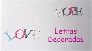 Letras Decoradas + Invitada Especial Thumbnail