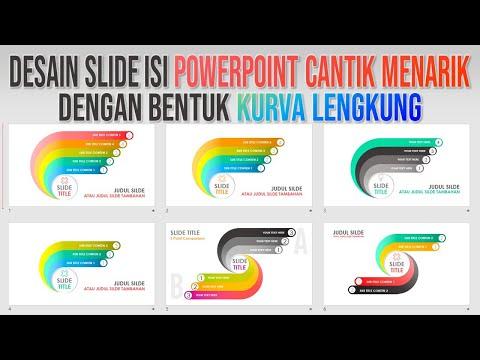 Cara Buat PPT Cantik Menarik dengan Bentuk Kurva Lengkung