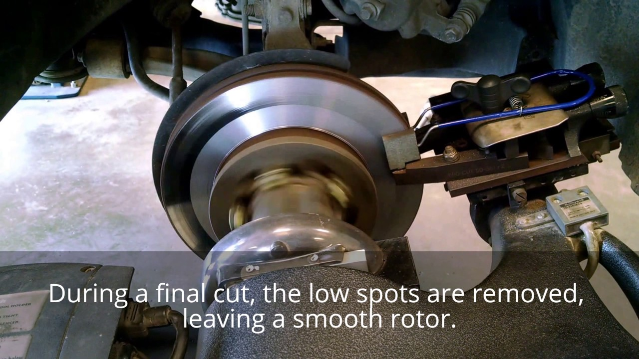 You would be surprised if you stood back and watched a brake lathe machine finish a cut on a rotor or drum. Brake rotors are very smooth—or should be. If you were to turn a rotor on any lathe then drop a hammer on the floor next to the lathe, you would see a noticeable degradation of the cut at the moment of impact.