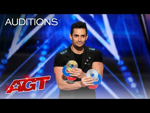 Magician Florian Sainvet Performs Mind-Bending Magic With CDs - America's Got Talent 2020