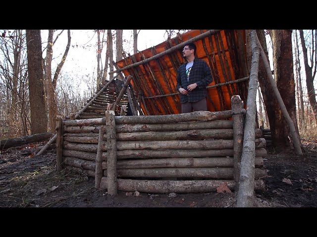 bushcraft-shelter-building-2nd-fire-wall-rock-cooking-keyhole-fire-pit
