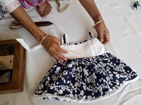 0c40536145 Baby frock cutting and stitching in hindi.