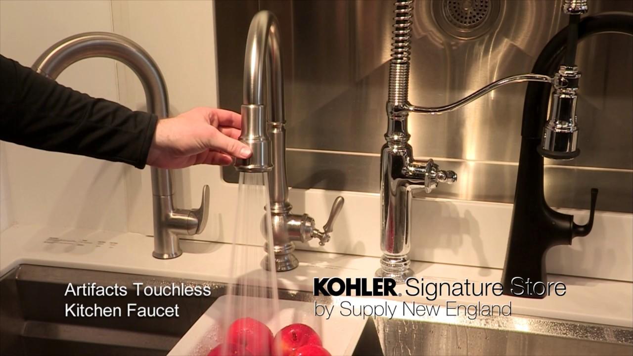 kohler artifacts touchless kitchen faucet
