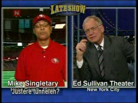 Mike Singletary in a intervju with David Letterman  - Flaco from Baltimore