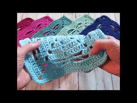 Pine Notes~Crochet Tutorial~Three Tail Dragonfly Square~exclusive Sneak Peek