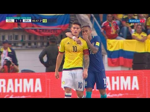 Neymar Vs Colombia (Away) HD 720p (05/09/2017)