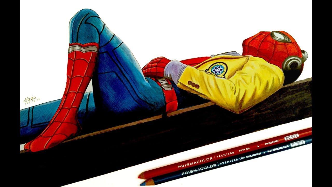 Dessiner spider man avec des feutres promarker youtube - Dessiner spiderman ...