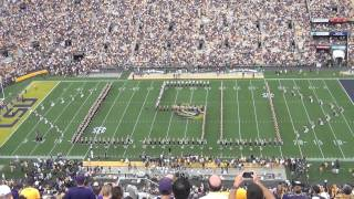LSU Tiger Band Pregame - Sept 1, 2012