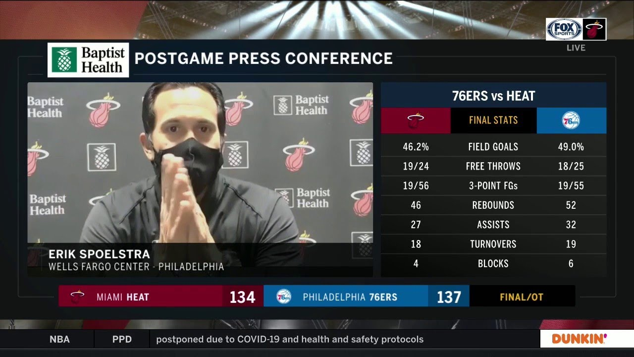 Shorthanded HEAT Fall To Sixers In OT