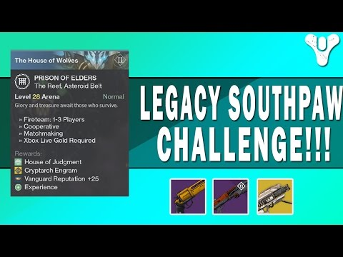 Destiny | Legacy Southpaw Challenge | Prison of Elders lvl 28
