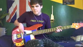 She's Hearing Voices - Bloc Party - Bass cover