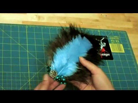 how to make a feather head piece threadbanger youtube. Black Bedroom Furniture Sets. Home Design Ideas