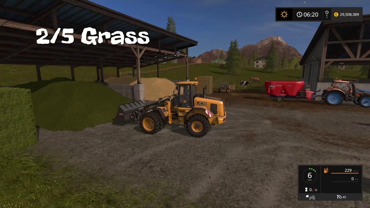 Farming Simulator 17 -Making Powerfood for cows