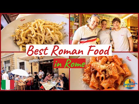 BEST ROMAN FOOD IN TRASTEVERE - What to Eat in Rome - Italian Food Tour