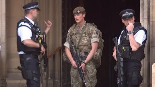 Armed forces arrive in London
