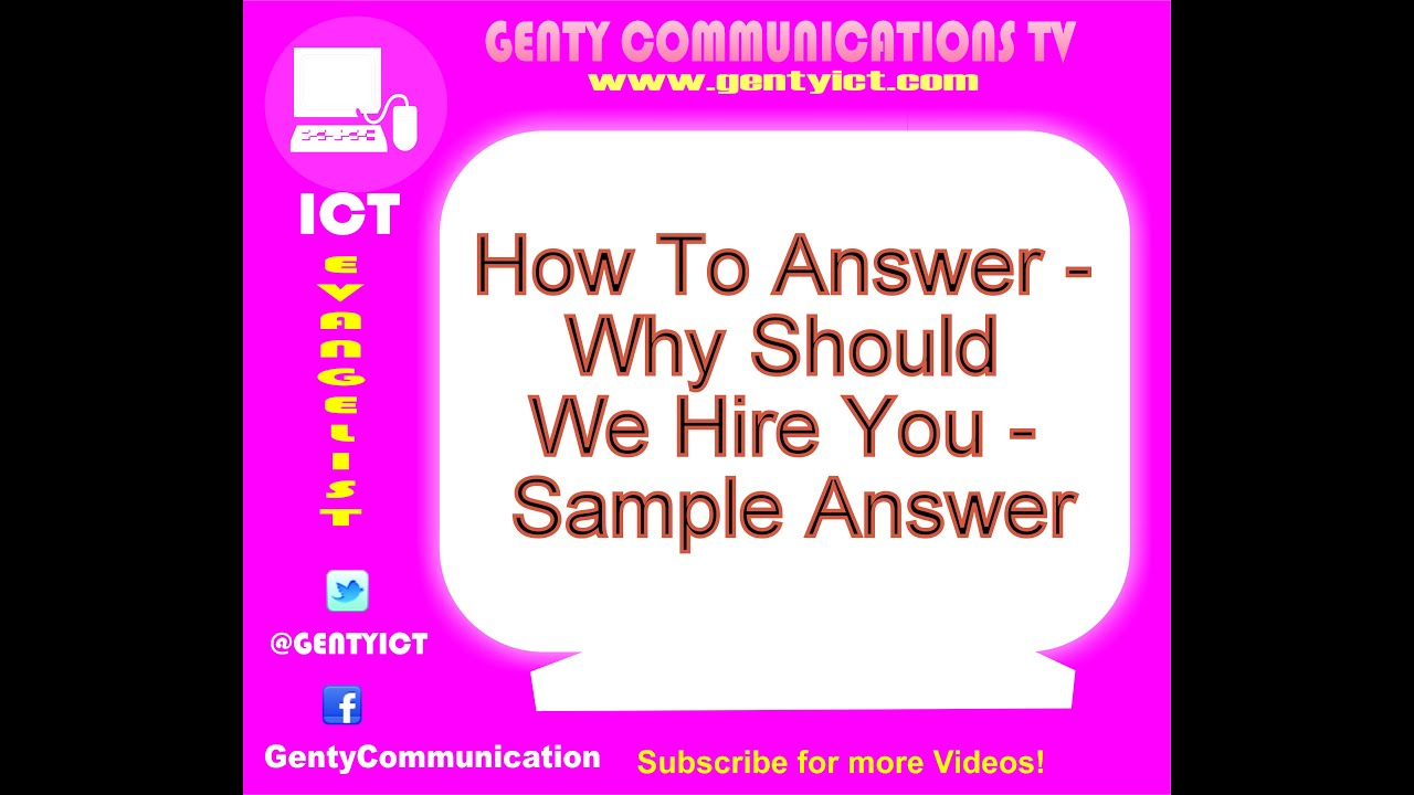 How To Answer Why Should We Hire You Sample Answer  Why Should I Hire You