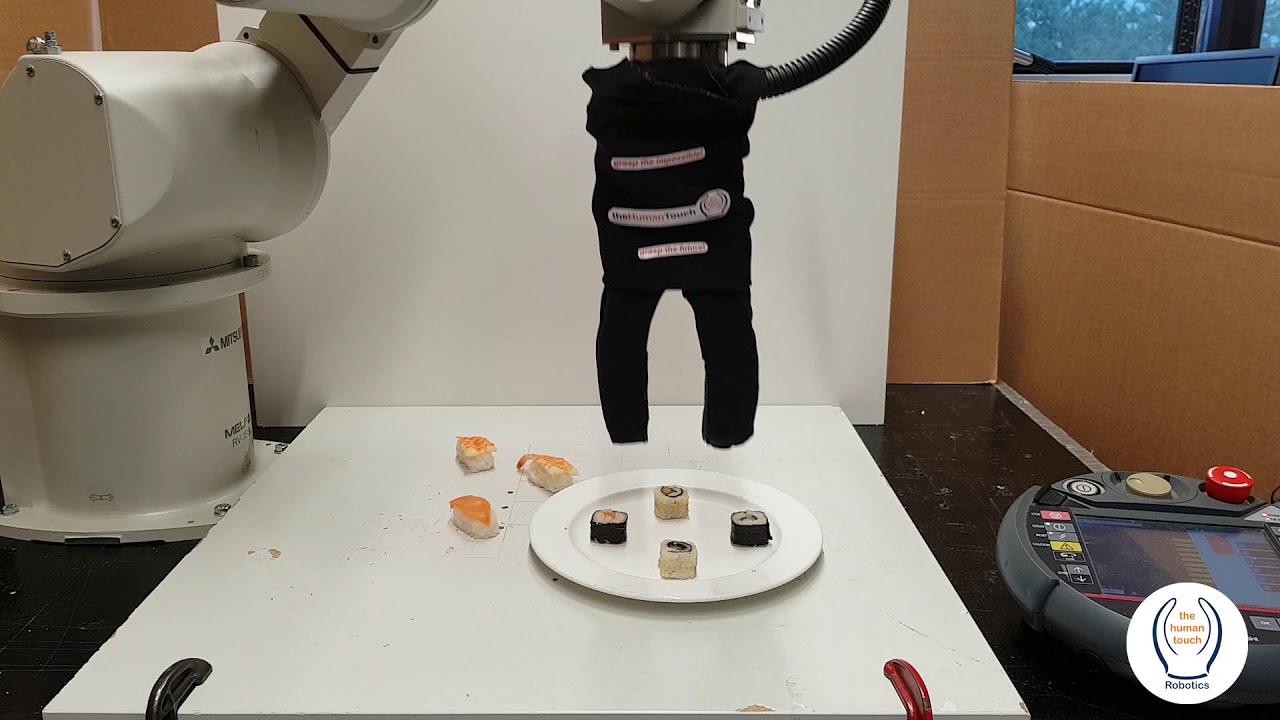 Robot serving sushi