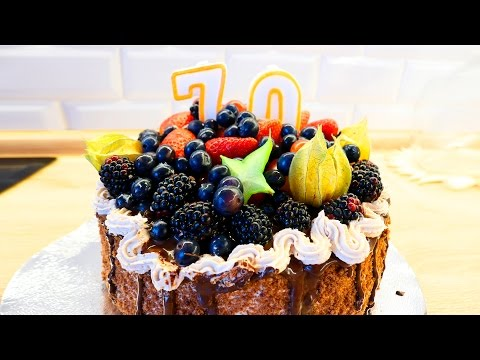 ТОРТ своими руками, без мастики на юбилей: основа торт Прага ♥ Рецепты #15 ♥ Stacy Sky