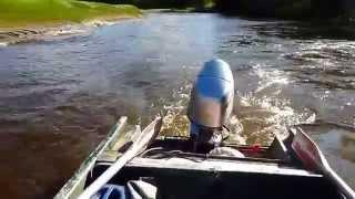 Лодка Крым Мотор Хонда 30 Наезд На Топляк