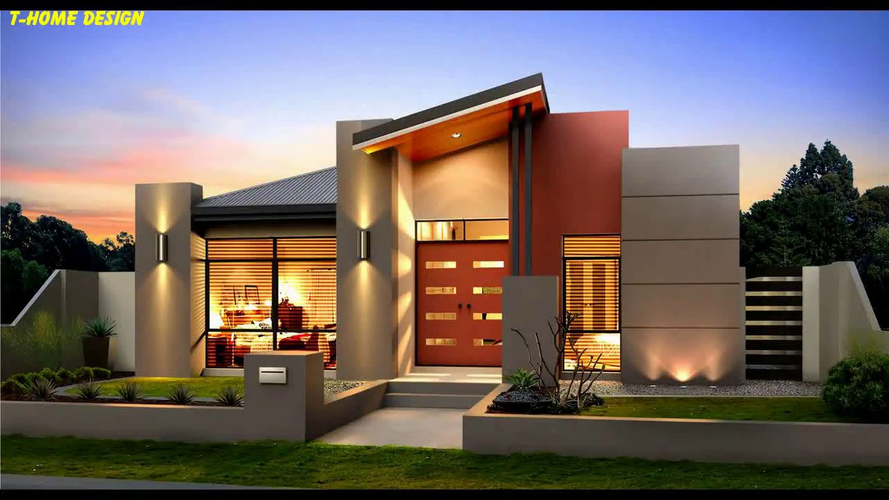 Modern Single Storey House Design With 4 Bedrooms Youtube