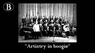 """Pippo Barzizza dirige """"Artistry in boogie"""" di Stan Kenton. Orchestra Cetra, 1948."""