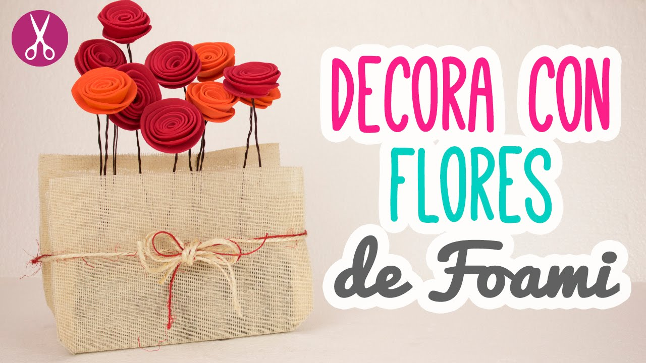 Flores de foami ideas para decorar tu cuarto for Ideas de decoracion reciclando